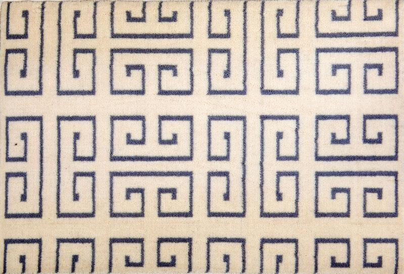 97 Greek Key; Vintage Satin