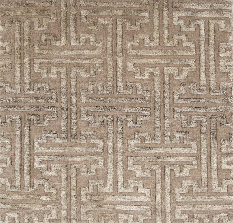126 Greek Key; Clay, Heathered Silk