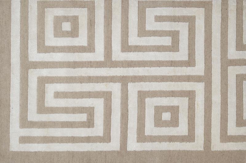 203 Maze;  Wool Bamboo, Beige Cream