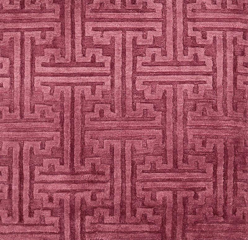 341 Greek Key; Cranberry