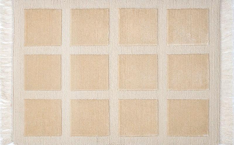 358 Squares; White Mohair